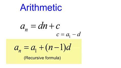 arithmetic sequence exle geometric series formula pdf