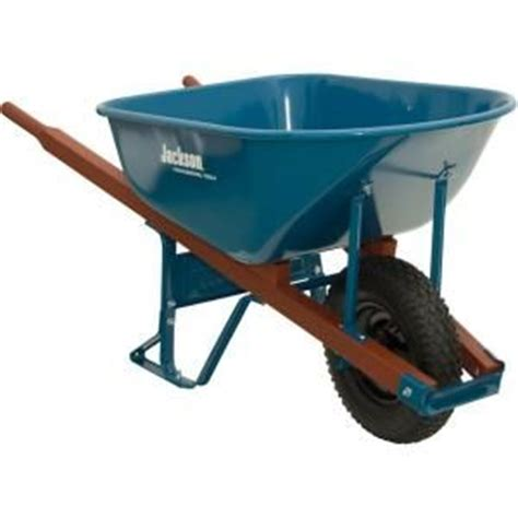 jackson 6 cu ft steel wheelbarrow home colors and