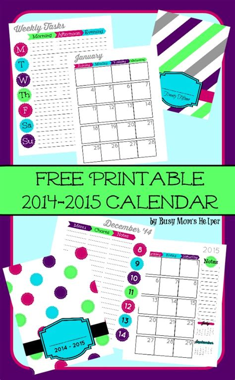 printable busy mom planner free printable 2015 planner