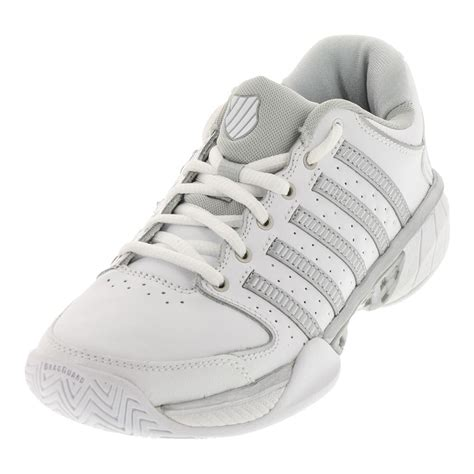 And White Shoes by K Swiss S Hypercourt Express Leather Tennis Shoes
