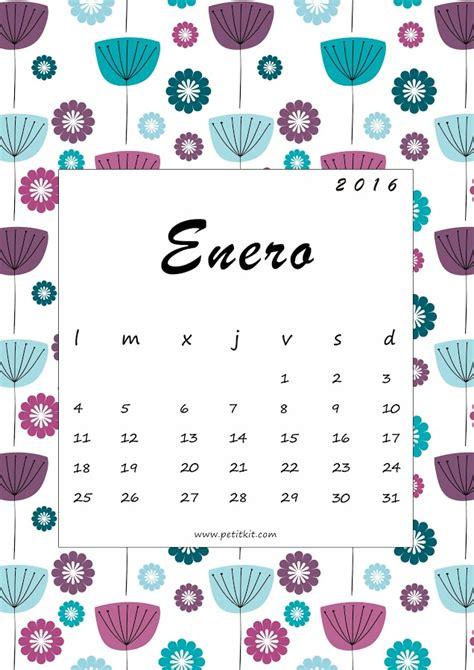 Calendario Enero 2016 Para Imprimir Calendario 2016 Gratis Facilisimo