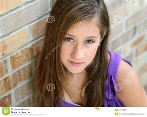 girl face pre close up of preteen girl stock image image of look
