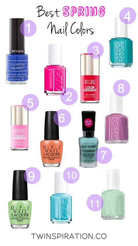 esse popular spring colors best spring nail colors twinspiration