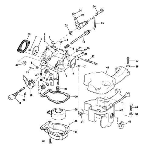 15 hp evinrude parts diagram evinrude carburetor parts for 1974 15hp 15404s outboard motor