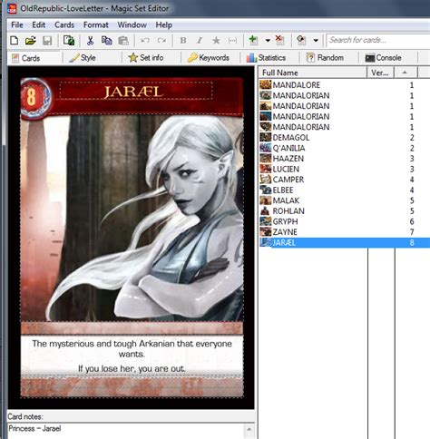 magic card editor templates techno pocket universe card building