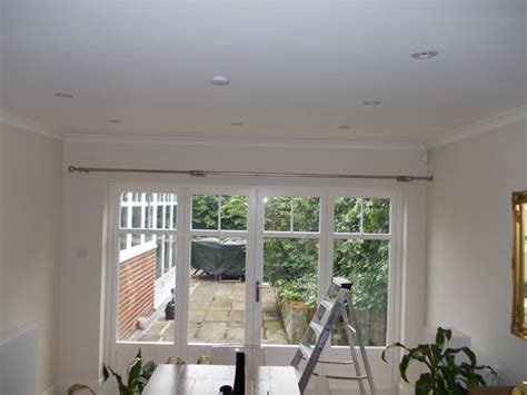 curtain pole to fit in recess linen curtains on pole with recess bracket