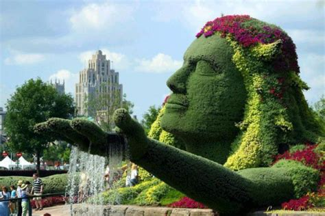 marvelous grass sculptures