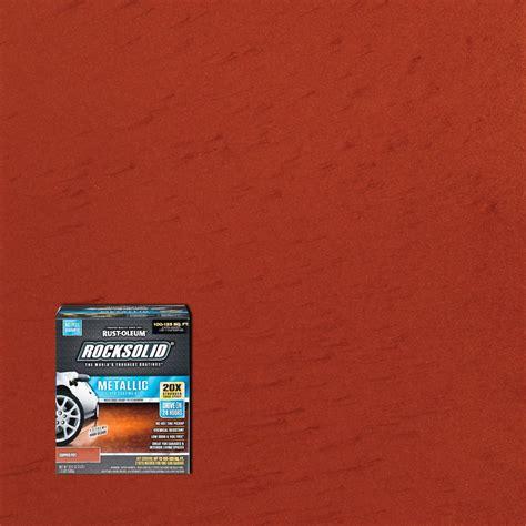 rust oleum rocksolid  oz metallic copper pot garage floor kit   home depot