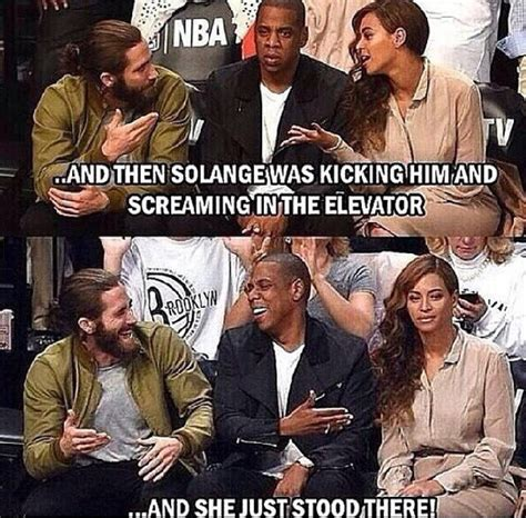 Jay Z Meme Beyonce - kudos to jay z for not hitting solange back verastic