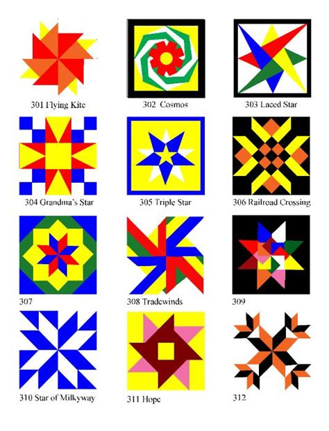 Quilt Pattern Meanings by Wooden Barn Quilt Blocks Made In The Usa