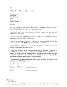 Car Loan Application Letter To Bank Sle Of Salary Certificate Letter