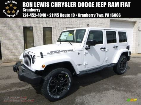 jeep smoky mountain white 2017 jeep wrangler unlimited smoky mountain edition 4x4 in