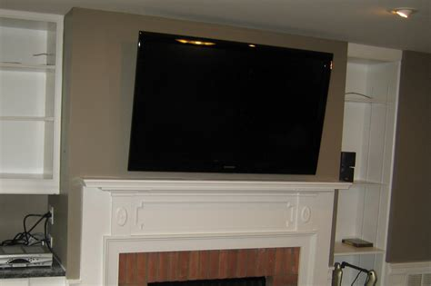 Mount Tv Fireplace by Woodbridge Ct Tv Mounted Fireplace All Wires