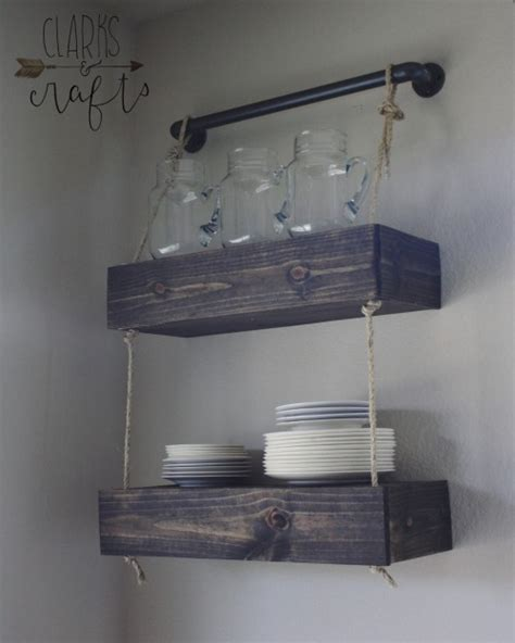 industrial pvc pipe and rope floating shelves shanty 2 chic