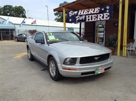 Mustang Auto Dallas Tx by 2007 Ford Mustang V6 Deluxe 2dr Fastback In Dallas Tx