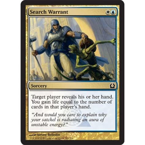 Uk Search Warrant Magic The Gathering Search Warrant Foil Magic The Gathering From Magic Madhouse Uk