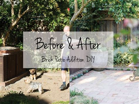 Patio Designs Before And After Before And After Diy Brick Patio Ideas