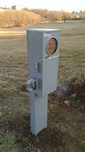 Electrical Pedestal Box An Outdoor Pedestal Mounted 200 Amp Metered Service Yelp