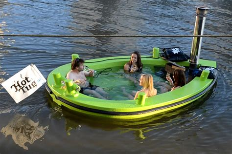 donut boat rental seattle rent a floating hot tub down by the river captivatist