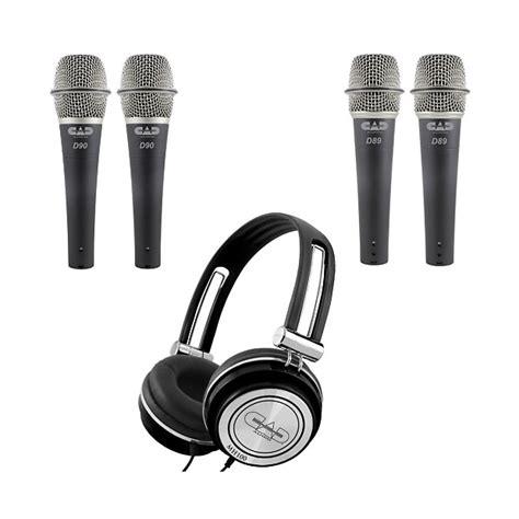 Cad Live D90 Supercardioid Dynamic Microphone Cable Mic Kabel Vocal cad d90 d89 and mh100 4 microphones and 1 headphone