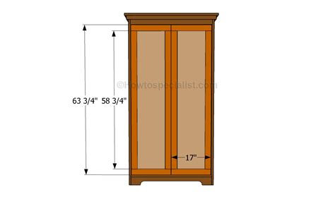 build an armoire how to build an armoire wardrobe howtospecialist how