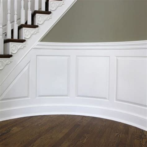 Custom Wainscoting by Crafted Custom Curved Raised Panel Wainscoting By