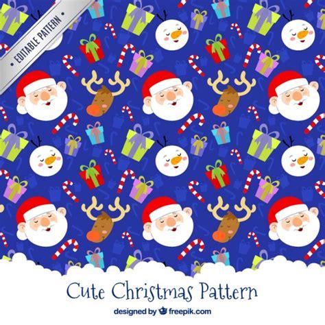christmas pattern ai cute christmas pattern vector premium download