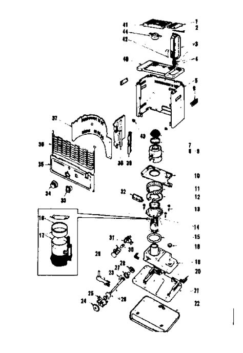 comfort glow heater parts replacement parts diagram parts list for model grw8b
