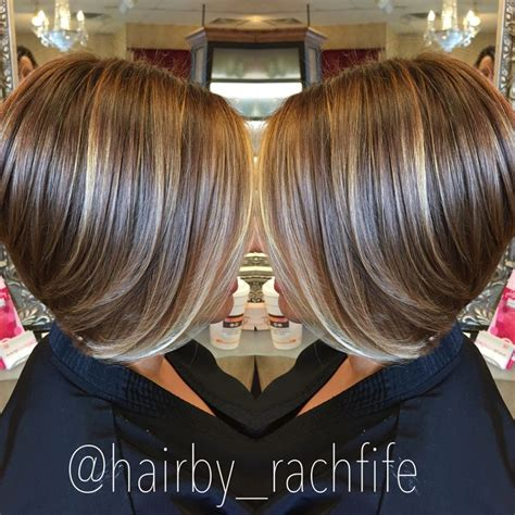 pictures of bob haircuts with foil color short bob haircut with subtle balayage highlights hair by