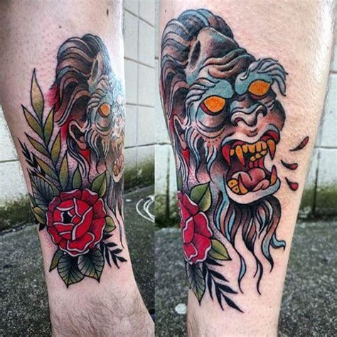 bigfoot tattoo 50 bigfoot designs for mythological creature