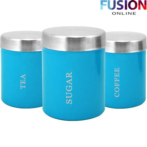 new hot pink glass jars 3pc canisters kitchen decor 3pc canister set stainless steel coffee tea sugar jar lid