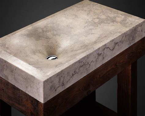 Concrete bathroom sinks adding industrial style luxury to modern bathroom design