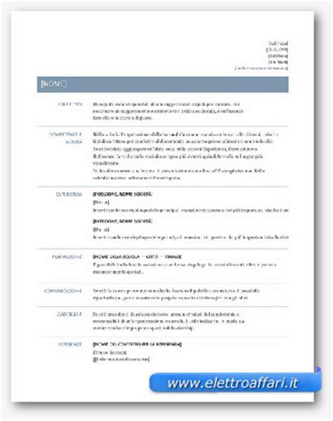 modello di cv cronologico modelli di curriculum vitae in word da scaricare gratis