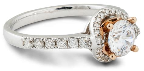 Side Accent Halo Ring 1216 engagement ring with gold accent wedding gallery