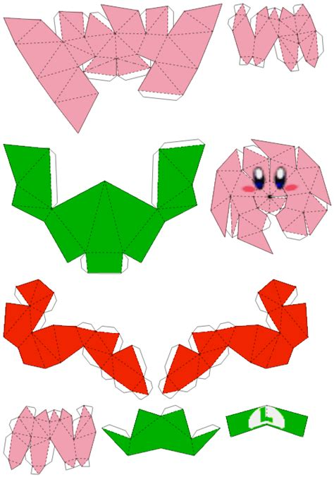 luigi kirby papercraft by fatsoyoshi on deviantart