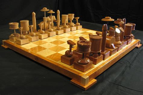 custom chess sets chess set custom cherry drum chess set handcarved on etsy