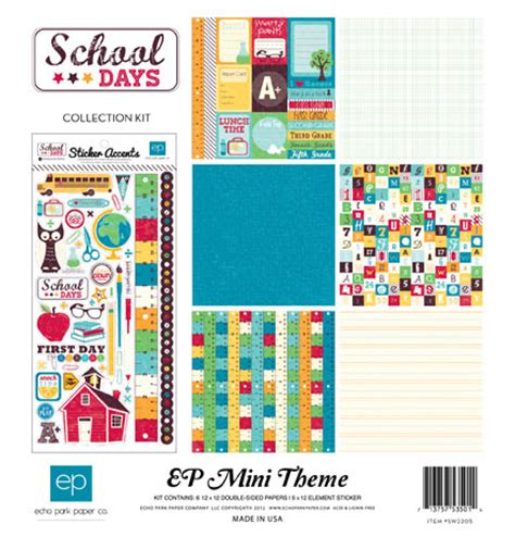 themes for college day echo park mini themes school days collection kit