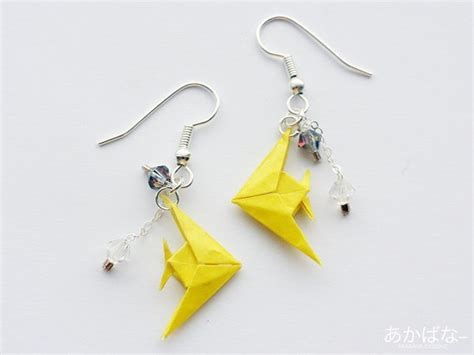Origami Tropical Fish - origami earrings etsy tropical fish