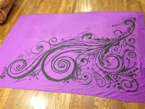Duvet And Cover Duvet Cover With Fabric Paint Design Stuff I Made