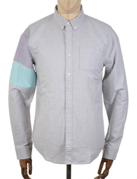 Bwgh Heka Grey Shirt Grey x bwgh colourblock ls shirt grey from