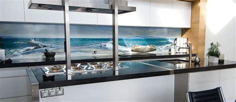 kitchen splashback ideas uk seascape photographic kitchen splashback idea from the