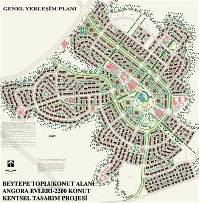 Site Plans For Houses beytepe mass housing area angora houses urban design