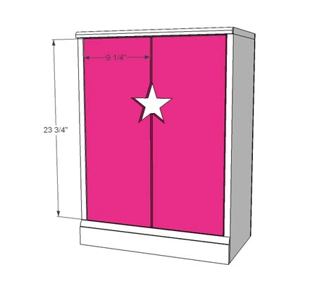 american girl armoire plans ana white star doll closet for american girl or 18 quot doll
