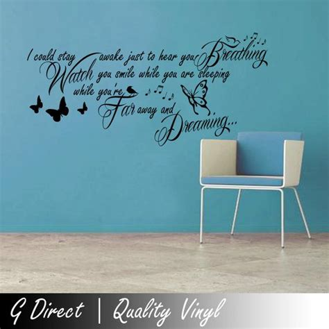 quotes to put on bedroom wall aerosmith breathing lyrics wall sticker quote bedroom by