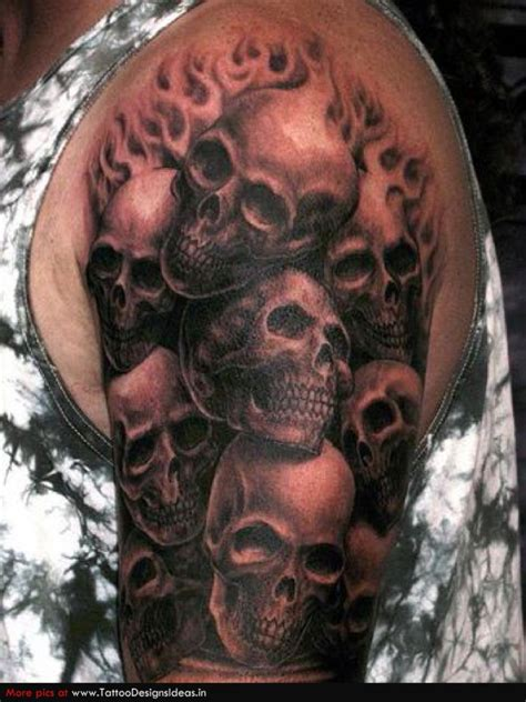 multiple skull tattoo designs 51 skull tattoos for and inspirationseek