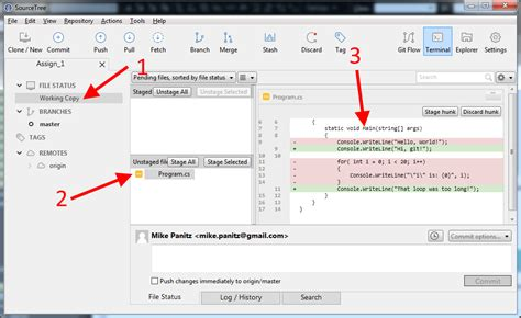 git tutorial using sourcetree how to use sourcetree