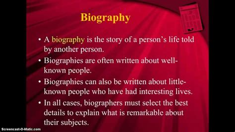 teaching difference between biography and autobiography biography autobiography memoir youtube