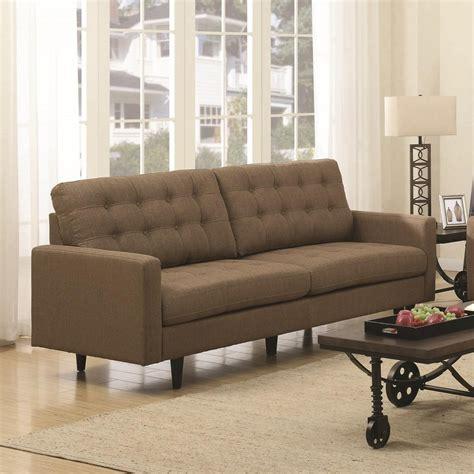 sofa coaster coaster kesson mid century modern sofa value city