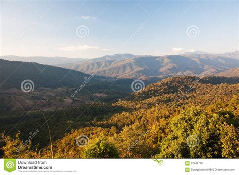 mountain with blue sky landscape royalty free stock photo