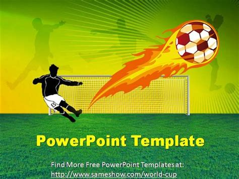 football themed powerpoint 2007 free world cup powerpoint template authorstream